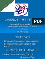 Linguagem lingua  e código.ppt