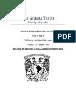 Las Grasas Trans