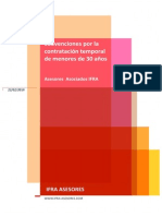 Subvención contratacion temporal de jóvenes - Murcia - IFRA ASESORES