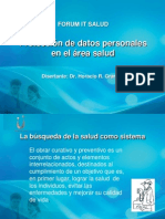 Proteccion de Datos Personales en Salud