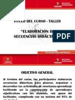 CURSO SECUENCIAS DIDÁCTICAS