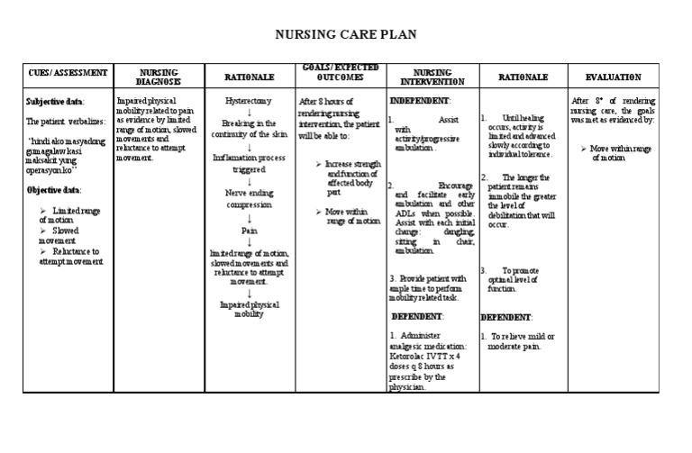 nursing care plan for hip fracture patient