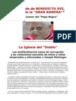 Carta de despedida de Joseph Ratzinger