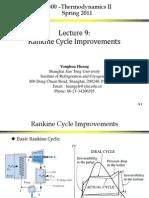 Improvement Rankine Cylce