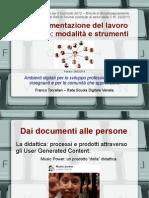 La documentazione del lavoro didattico