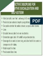 Effective Discipline for Possitive Socialization and Self Esteem