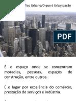 3° ano Urbanizaçao