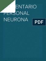 Comentario Personal Neurona