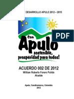 Plan de Desarrollo Apulo 2012 2015 1