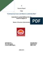 Seminar Report on obama