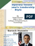 obama's ledership style