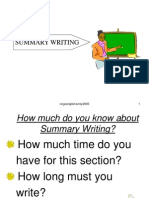 Summary Writing