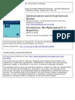 Introduction- Bio-Redundancy() in Biopolitics