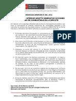 COMUNICADO - MINISTERIO DEL INTERIOR ADOPTÓ INMEDIATAS ACCIONES POR ROBO DE COMBUSTIBLE EN LA DIRCOTE.doc