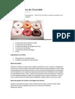 Donuts Assados de Chocolate