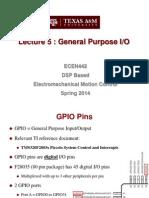 Lecture 5 GPIO (1-28-14)(1) ECEN 442