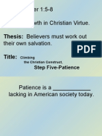 Climbing the Christian Construct, Step 05-Patience