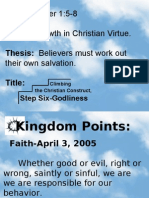 Climbing the Christian Construct, Step 06-Godliness