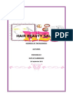 Business Plan Hair Salon