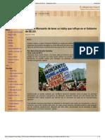 Acusan a Monsanto de Tener Un Lobby Que Influye en El Gobier