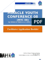 MIRACLE08 Youth Conference Faci Application