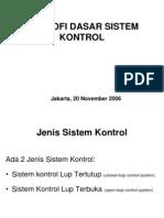 Filosofi Dasar Sistem Kontrol