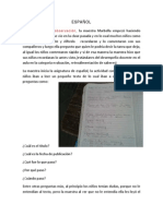 ensayo de español de el grupo 2°b