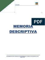 Memoria Descriptiva - Pistas y Veredas Sayan
