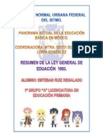 LEY GENERAL DE EDUCACIÓN resumen 1993