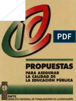 10 Propuestas Para Asegurar La Calidad de La Educ Pub SNTE 1994