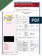 SSC CGL Tier- 1 Prep Table