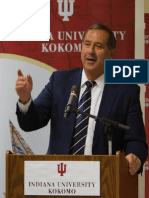 Chancellor Michael Harris Leadership Indiana University Kokomo, פרופסור וצ'נסלור מייקל הריס