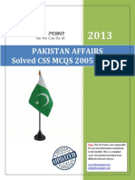 Pakistan Affairs Solved MCQs 2005 to 2013