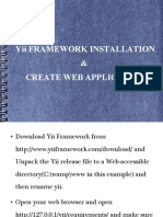 Yii FRAMEWORK INSTALLATION & CREATE WEB APPLICATION