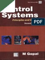 Control Systems - M Gopal