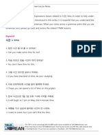 TTMIK Level 9 Lesson 26 - Advanced Idiomatic Expressions - 시간 (time)