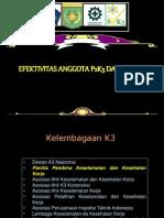 Efektivitas Anggota P2K3 Dlm SMK3