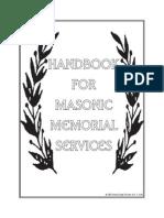 Masonic Memorial Handbook