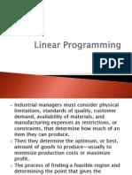 Ch6 - Linear Programming