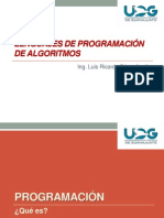 1 Lenguajes de programación de algoritmos