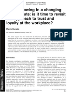 Whistleblowing in a Changing Legal Climate is It Time to Revisit Our Approach to Trust and Loyalty at the Workplace