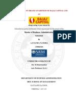 A project report on Bajaj Capital
