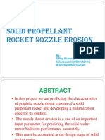 Solid Propellant Rocket Nozzle Erosion