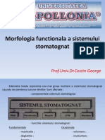 Morfologia Functionala a Sistemului Stomatognat