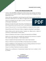 Key amendments to the Anti-Homosexuality Bill