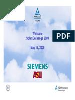 TUV Siemens Solar Exchange 05 19
