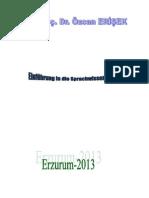 Dilbilim Ders Notları 2013-2014