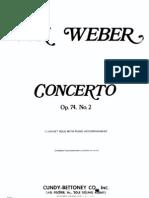 Weber Clarinet Concerto in E-flat