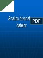 Analiza Bivariata a Datelor