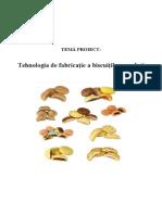 Tehnologia de Fabricatie a Biscuitilor Umpluti